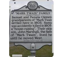 MARK TWAIN- HISTORICAL LAND MARK iPad Case/Skin