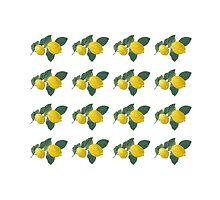 Oil painted lemons in rows by KerstinB