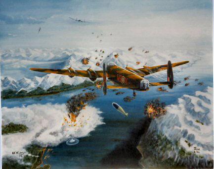 9 Sqdn Lancs bomb Tirpitz  by Woodie