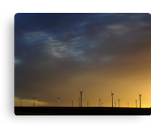 Last Light on The Llano Estacado Wind Farm Canvas Print