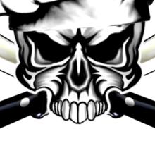 Chef Skull 12: Culinary Genius 3 white flames Sticker