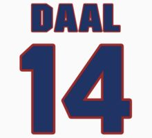 National baseball player Omar Daal jersey 14 by imsport