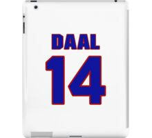 National baseball player Omar Daal jersey 14 iPad Case/Skin