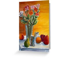 fruit and flower still life Greeting Card