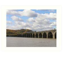 Amtrak at Rockville Bridge Art Print