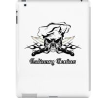 Chef Skull 12: Culinary Genius 3 black flames iPad Case/Skin