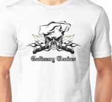 Chef Skull 12: Culinary Genius 3 black flames Unisex T-Shirt