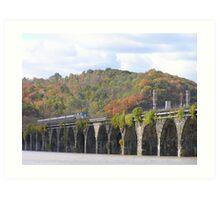 Amtrak at Rockville Bridge II Art Print