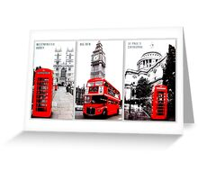 London Trilogy Greeting Card