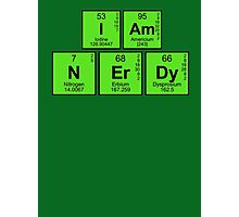 I am nerdy - written in periodic table elements Photographic Print