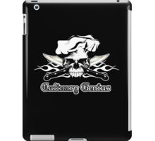 Chef Skull 13: Culinary Genius 3 white flames iPad Case/Skin