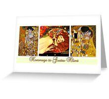 Hommage to Gustav Klimt Greeting Card