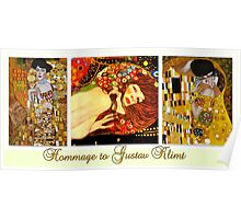 Hommage to Gustav Klimt Poster