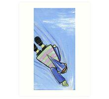 Boy and His Flying Helment : 2 Art Print