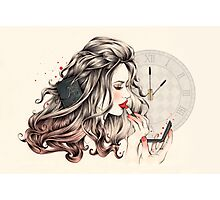 Rouge Passion (The 5 minute Make Up!) Photographic Print