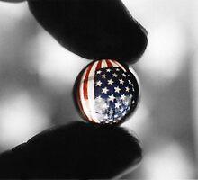 U.S. flag through marble by darrinb