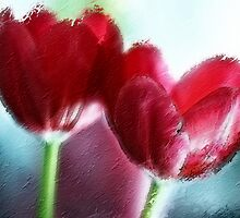 Painted Tulips by Lesley Smitheringale