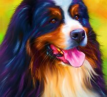Heidi - Bernese Mountain Dog  by Michelle Wrighton
