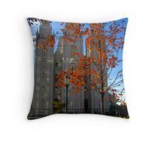 """Fall at the Morman Temple"" Throw Pillow"