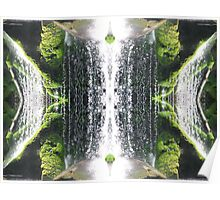 Green Water Fall Poster