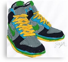 Nike Sneakers Canvas Print