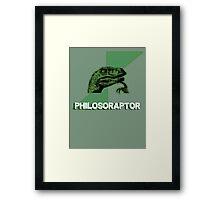 philosoraptor - meme dinosaur t-rex Framed Print