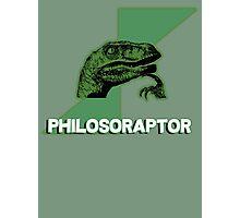 philosoraptor - meme dinosaur t-rex Photographic Print