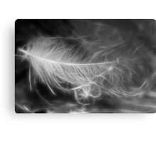 Floating Feather Dreams Metal Print