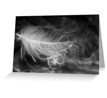 Floating Feather Dreams Greeting Card