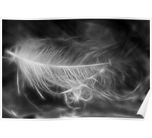 Floating Feather Dreams Poster