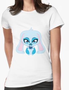 A cute blue bunny with a bow Womens Fitted T-Shirt
