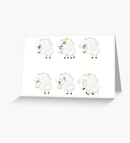 Chibi Sheeps Greeting Card