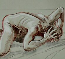 Torment of the Male Nude (Drawing)- by Robert Dye