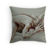 Torment of the Male Nude (Drawing)- Throw Pillow