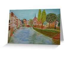 Alsace from a Bridge Greeting Card
