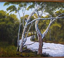 Swollen River-Painting by SharonD