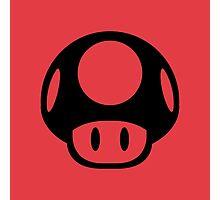 Super Mario Bros. Symbol - Super Smash Bros. (black) Photographic Print