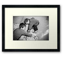 3 boys in love Framed Print