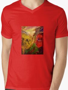 Figurative expressionist painting Mens V-Neck T-Shirt