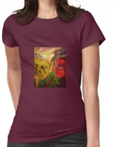 Figurative expressionist painting Womens Fitted T-Shirt