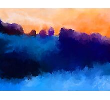 Ice, Mauve and Marmalade Abstract Landscape Photographic Print