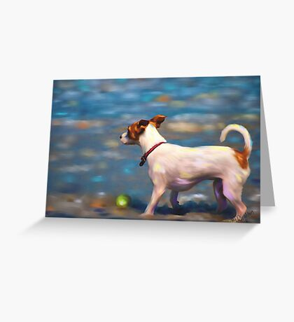 Jack Russell Terrier at the Beach Greeting Card