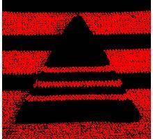 Crochet pyramid digitally manipulated Photographic Print