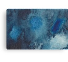 Abstract watercolour painting in blue shades Canvas Print