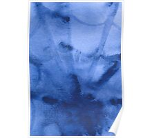 Abstract watercolor painting, spider's web Poster