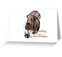Sherlock Holmes bloodhound Greeting Card