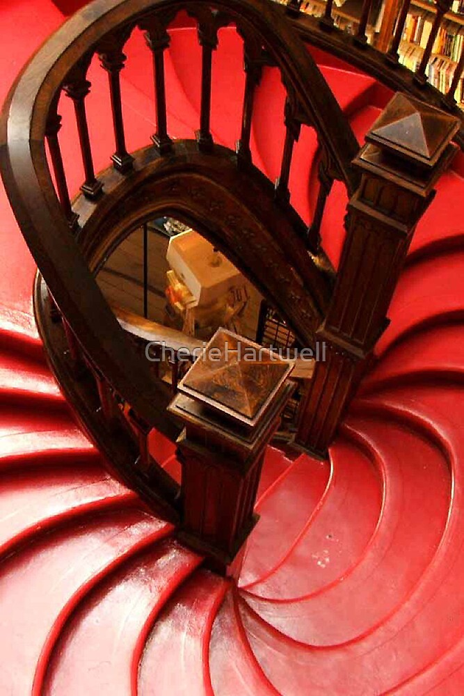 Library Staircase, Porto, Portugal by CherieHartwell
