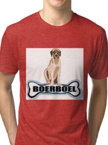 Boer Boel and  dog bone Tri-blend T-Shirt