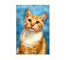 William Orange Tabby Cat  Art Print