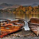Derwentwater Boats by Anna Ridley